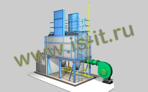 Oil heating furnace (3D)